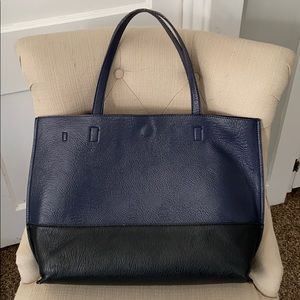 Urban Outfitters Navy Black Shoulder Tote